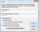 winzip encryption screenshot